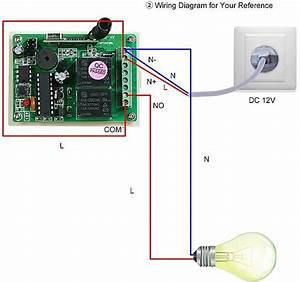 Generic 433mhz Dc 12v 2ch Universal 10a Relay Wireless Remote Control Switch Receiver Module And