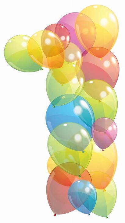 Balloon Balloons Transparent Number Clipart Birthday Numbers