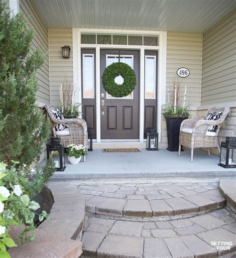 Decorating Ideas For Front Porch by Summer Front Porch Decor Ideas Setting For Four