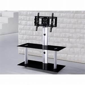 Meuble Tv Ecran Plat : meuble tv hifi dalton pour cran plat 110 cm noir d co meubles ~ Teatrodelosmanantiales.com Idées de Décoration