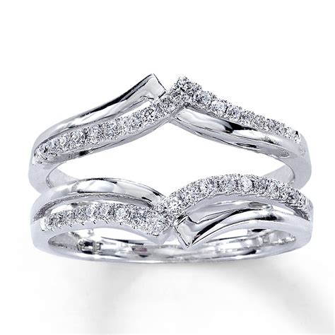 ring guards for wedding bands jared enhancer ring 1 4 ct tw cut 14k white gold