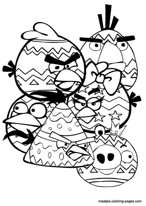 Kleurplaat Chagne by Angry Birds Coloring Pages Easter Angry Birds Coloring