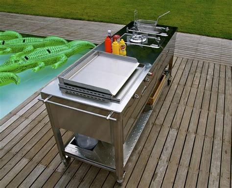 meuble cuisine exterieur inox meuble cuisine extérieur idées et conseils rangement pratique