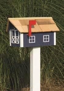 Wooden House Mailbox