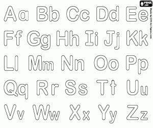 Colorea Alfabeto burbuja con letras minúsculas y