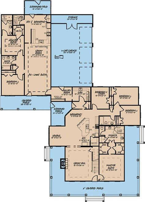 plan mk  bed country farmhouse plan   bed apartment   house plans  story