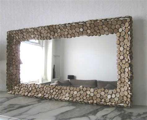 cadre sur mesure castorama mon miroir en rondins de bois ma bulle