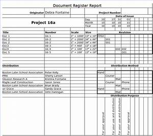project center tenth edition help With document register template free