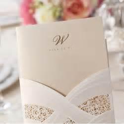 Elegant Laser-Cut Pocket Wedding Invitations