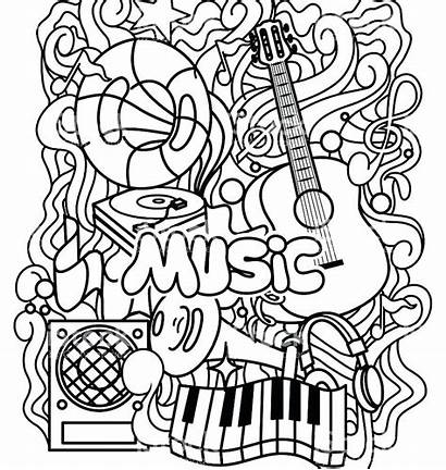 Coloring Musical Pages Instruments Printable Getcolorings