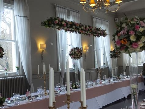 Hanging Centrepieces And Suspended Floral Wedding