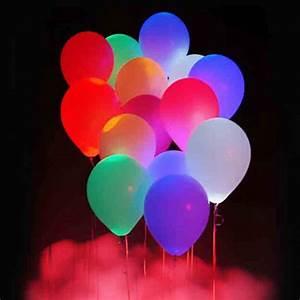 Balon Ulang Tahun Dengan Lampu Led 5 Pcs - Multi-color