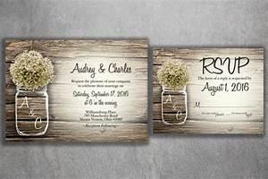mason jar baby39s breath flowers rustic wedding invitation With affordable engraved wedding invitations