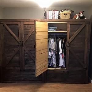 Pallet Wardrobe with Drawers Pallet Furniture