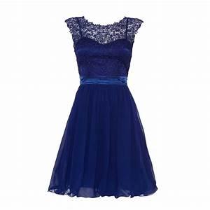 £40 Royal Blue Lace Chiffon Prom Dress - Quiz Clothing ...