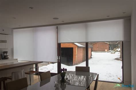 modern window treatments for kitchen kitchen motorized window blinds modern kitchen toronto by rosesun motorized window