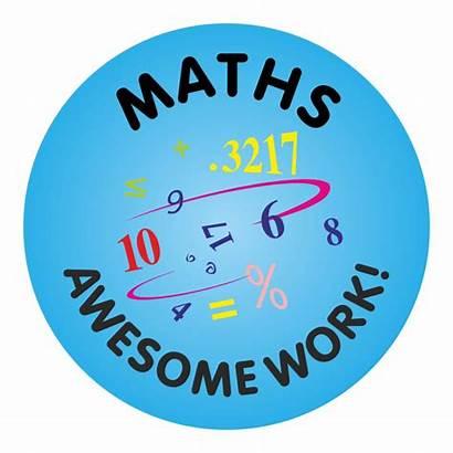 Stickers Awesome Math Reward Maths Teacher Praise