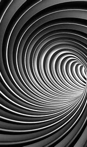 Black and white spiral lines swirl 3D custom wall mural