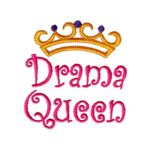 Needle Passion Embroidery Embroidery Design: Drama Queen 3 ...