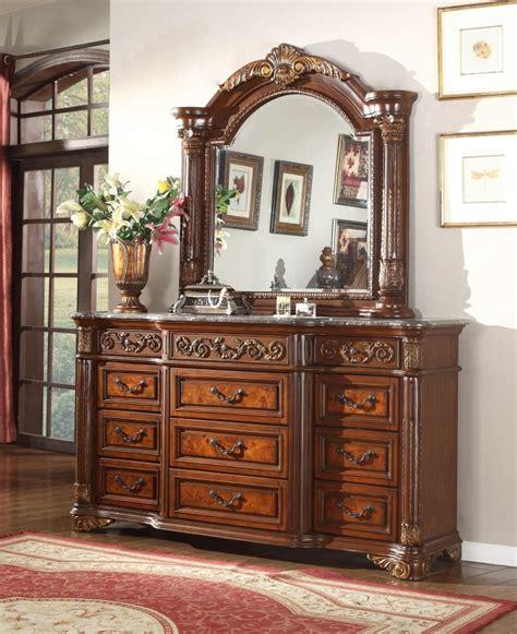 meridian royal post canopy bedroom set  cherry  marble