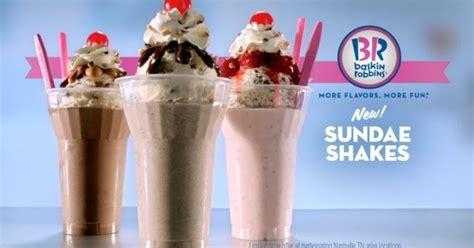 baskin robbins tests  sundae shakes brand eating