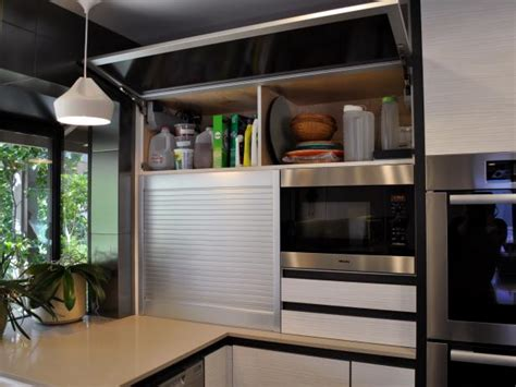 flip  kitchen storage cabinet  appliance garage hgtv