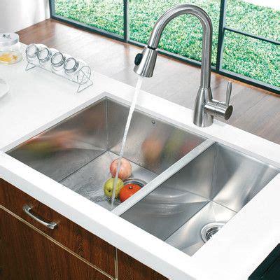 modern undermount kitchen sink vigo 80 20 bowl zero radius stainless steel 7780