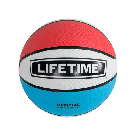 lifetime   official size rubber basketball red