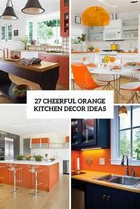 27, Cheerful, Orange, Kitchen, Decor, Ideas