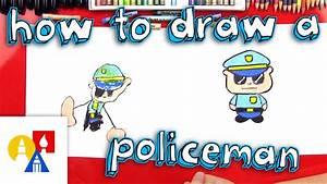 How To Draw A Cartoon Policeman Youtube