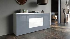 Tv Sideboard Weiß : sideboard tv board anrichte kommode rova in wei hochglanz naturt ne ebay ~ Markanthonyermac.com Haus und Dekorationen
