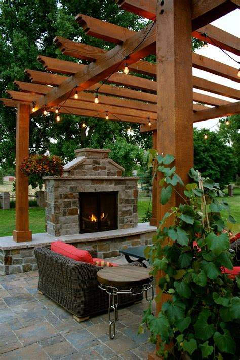 shocking outdoor propane fireplace decorating ideas