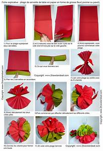 Fleur En Papier Serviette : pliage de serviette de table en forme de fleur de pivoine r aliser une pivoine avec une ~ Melissatoandfro.com Idées de Décoration