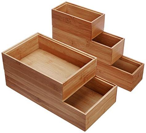 lipper international  bamboo wood drawer organizer