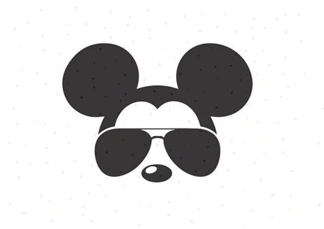 mickey mouse sunglasses svg png instant  cricut