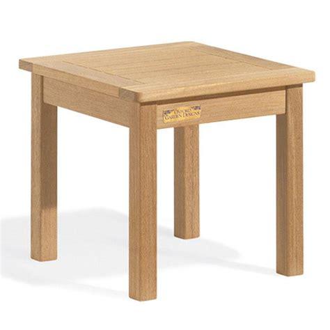 shorea wood square end table pool patio furnishings