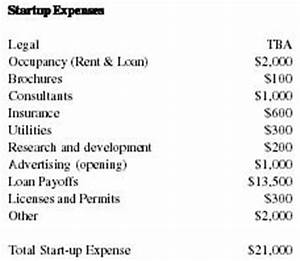Startup Expenses Spreadsheet Cigar Shop Business Plan Business Plan Executive Summary
