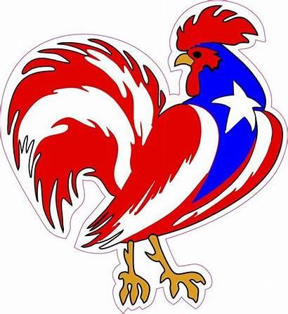 Puerto Rico Rooster Gallo Sticker Decal Vinyl
