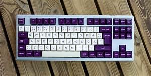 Keyboard, Tx-87, Keycaps, Round, 6, Cream, Violet