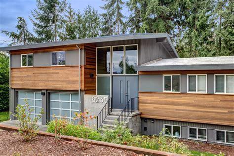 tri level house plans 1970s split level exterior makeover the modern split board
