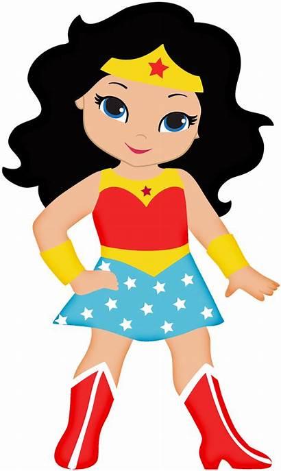 Superhero Clipart Female Wonder Woman Mujer Maravilla