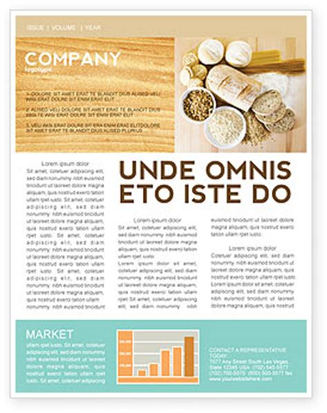 newsletter cuisine staple food newsletter template for microsoft word adobe