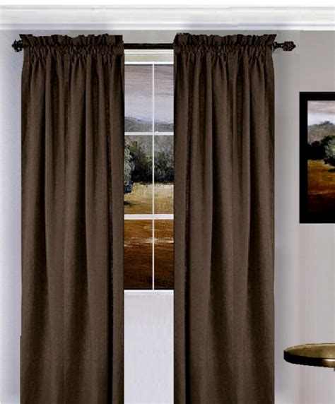 solid brown colored window curtain available in many