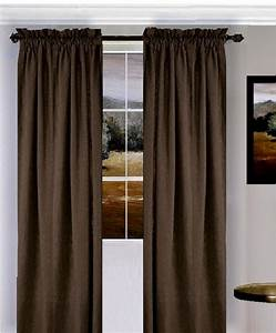 Solid Brown Colored Window Long Curtain (available in many ...