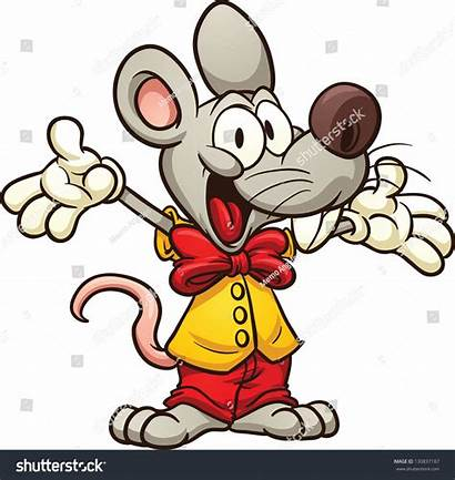 Cartoon Bow Tie Mouse Shutterstock Vector Wearing