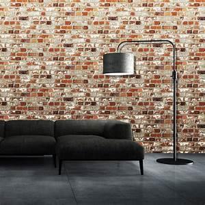 Muriva Just Like It Loft Brick Faux Red Wall Effect ...