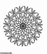 Coloring Curling Mandala Tutorial Posters sketch template