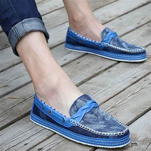 NEW Mens Comfy Jeans Casual Slip On Loafer Shoes Moccasins Driving Shoes-in Menu0026#39;s Flats from ...