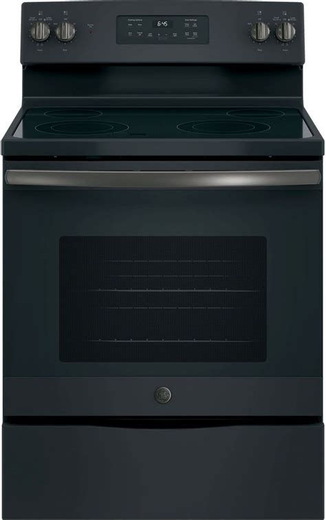 ge   standing electric range black slate jbfkds jbfkds dick van dyke appliance world