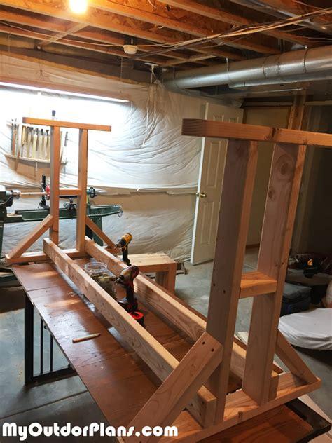 diy wood glider swing myoutdoorplans  woodworking